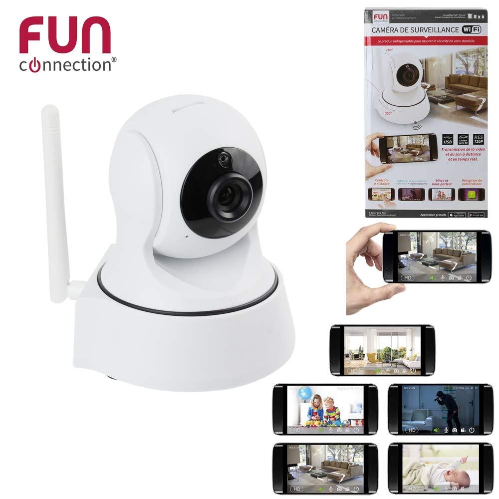 Fun Connection Ht1438 Camera De Surveillance Interieur Wifi Blanc