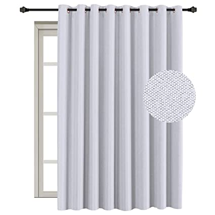 hversailtex sliding glass door curtains extra wide curtain panels blackout thermal curtains outside - Sliding Glass Door Curtains