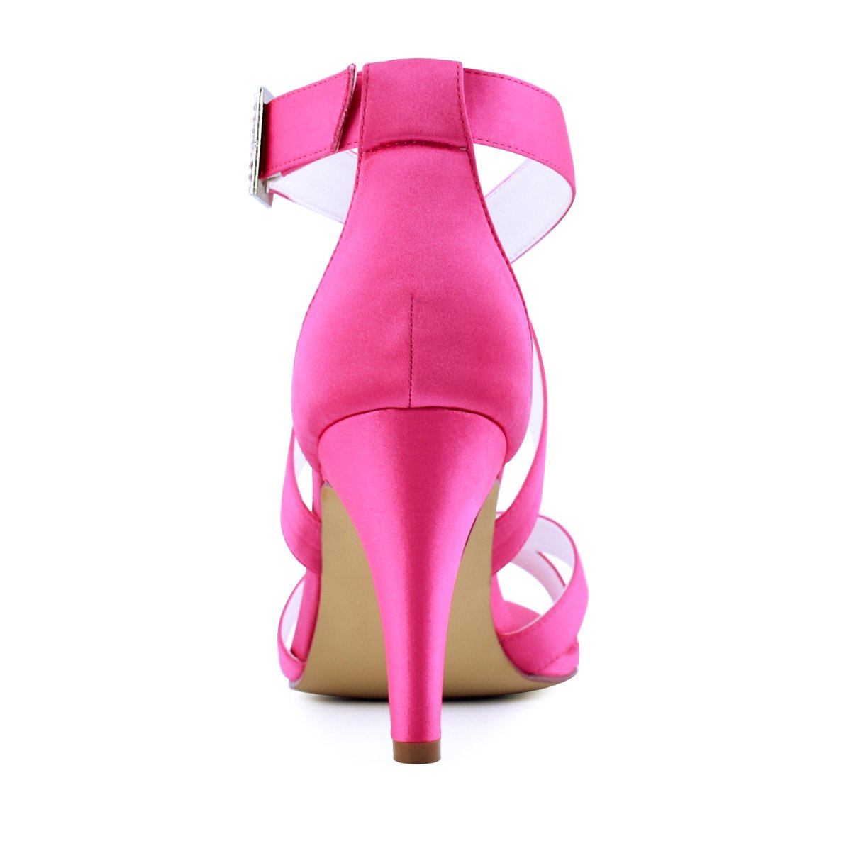ElegantPark mujeres zapatos de tacón 17403 alto vestido punta ...