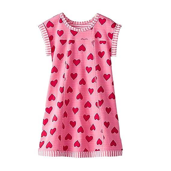 8f26dc0565 VIKITA Vestido para Niñas Manga Larga Algodón Princesa Casuales Bebe Niñas  1-6años  Amazon.es  Ropa y accesorios