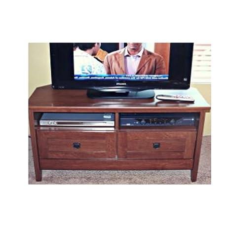 Amazon Com Rustic Corner Tv Stand Console Flat 32 36 26 39 Inch Tv