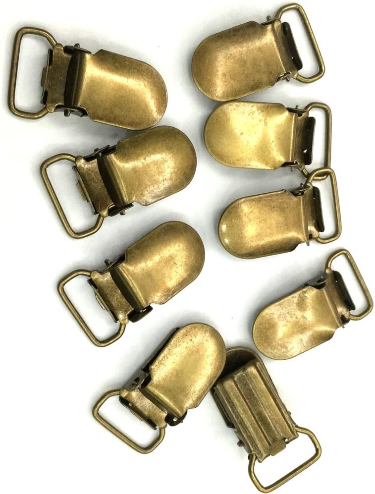 Good.news 20 St Schnuller Hosentr/äger Straps Clips Pacifier Holders L/ätzchen Spielzeug Bronze 10mm