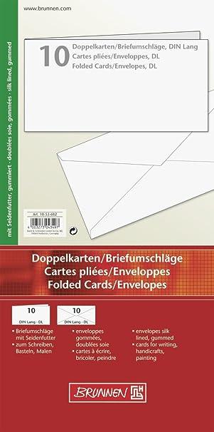 Weiß Unbedruckt Briefkarte A6 250 G Qm 25 Blatt Brunnen