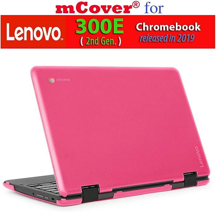 """mCover Hard Shell Case for 2019 11.6"""" Lenovo 300E (2nd Gen.) 2-in-1 Chromebook Laptop (NOT Fitting Lenovo 300E Windows & N21 / N22 / N23 /100E / 500E Chromebook) (Pink)"""