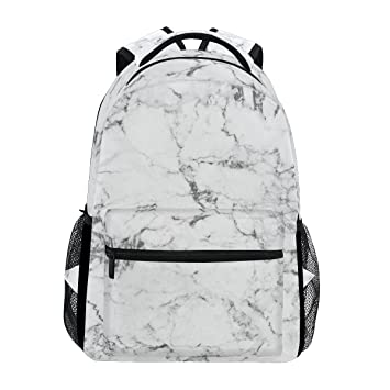 4c774fa235ed TropicalLife Black and White Marble Art Backpacks School Bookbag Shoulder  Backpack Hiking Travel Daypack Casual Bags