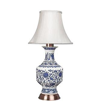 Blaue Und Weiße Porzellanvase Schreibtischlampen, Die Neue Chinesische  Schlafzimmer Bedside Oxidationsbeständig Metall Tischlampe, Moderne