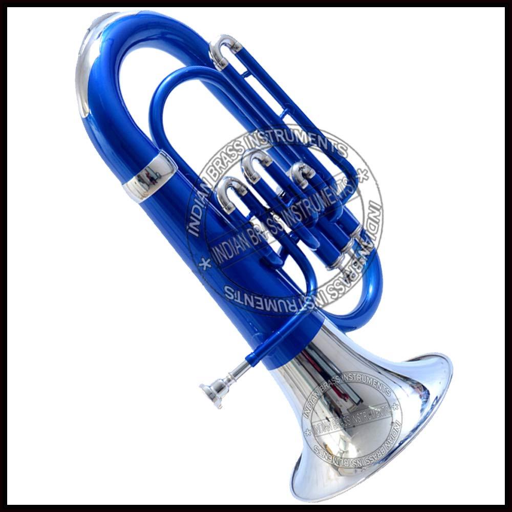 Nasir Ali Euphonium Blue + Nickel Bb 3 valve by NASIR ALI