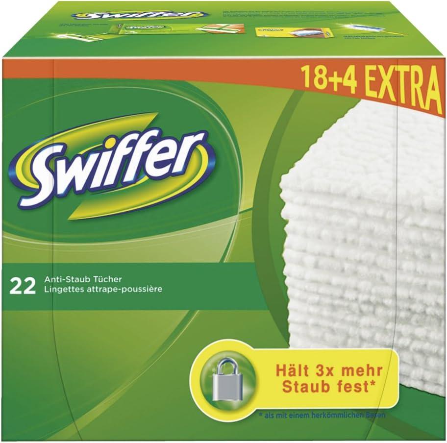 4 offerts Swiffer Bo/îte de 22 chiffons de nettoyage secs 18