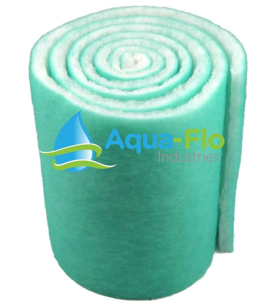 Aqua-Flo Pond & Aquarium Filter Media, 12'' x 120'' (10 Feet) Long x 1'' Thick (Green/White)