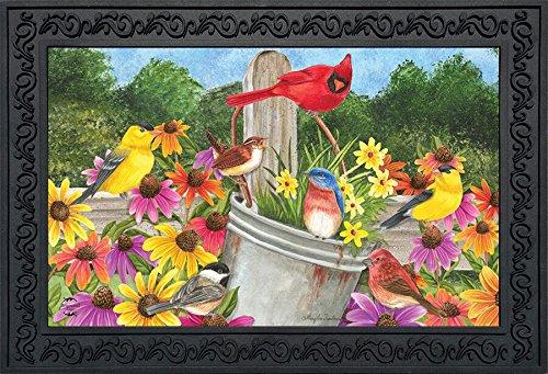 Briarwood Spring - Spring Gathering Cardinal Doormat Floral Birds 18