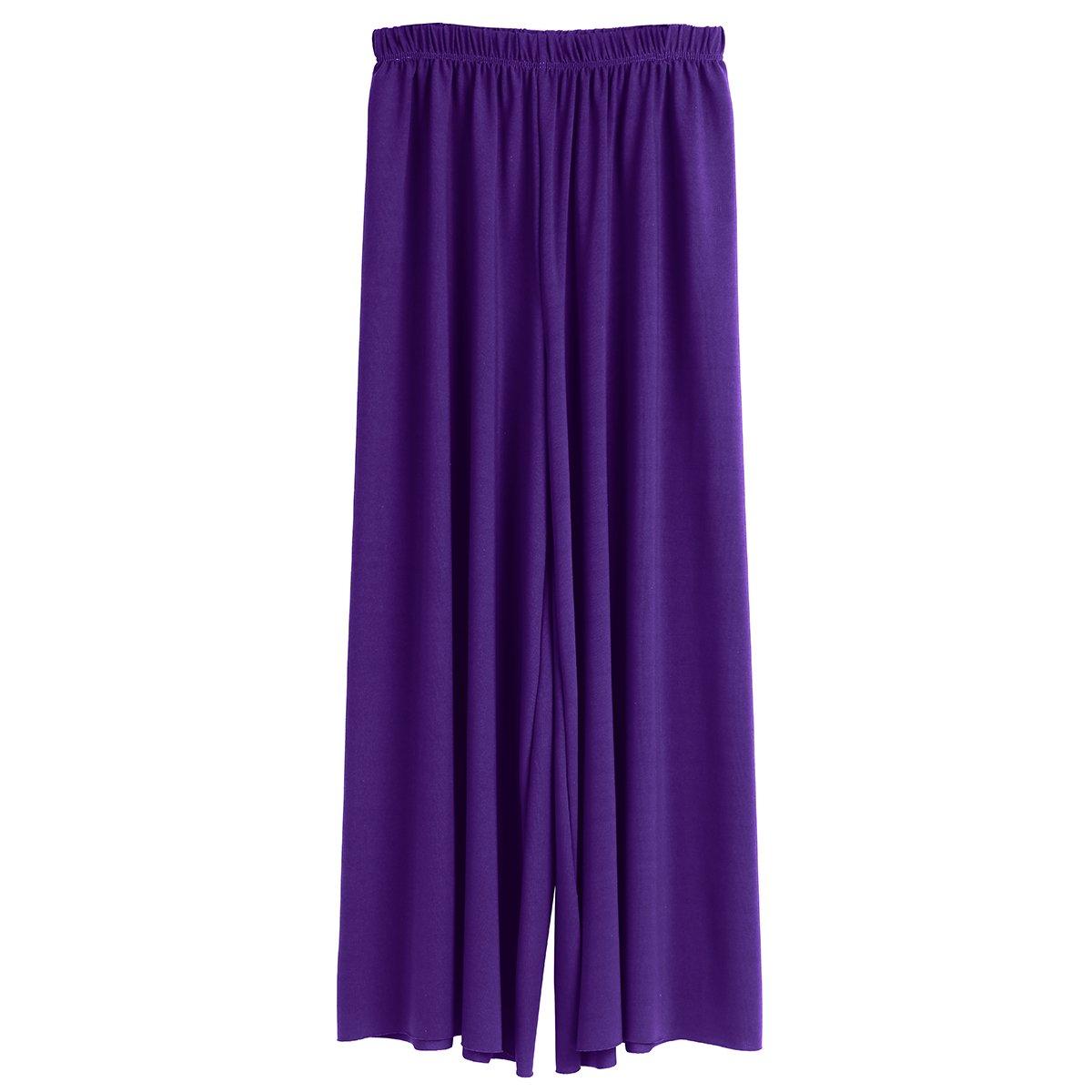 TiaoBug Kids Girls Loose Wide Leg Palazzo Pants Straight Pants Casual Trousers