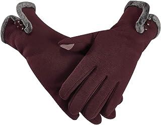 Opard Touchscreen Handschuhe Damen Winter Dicke Warme Handschuhe Kaschmir Drinnen Draußen Radfahrenhandschuhe, Motorradfahrenhandschuhe, Mountainbikehandschuhe WX-GL4