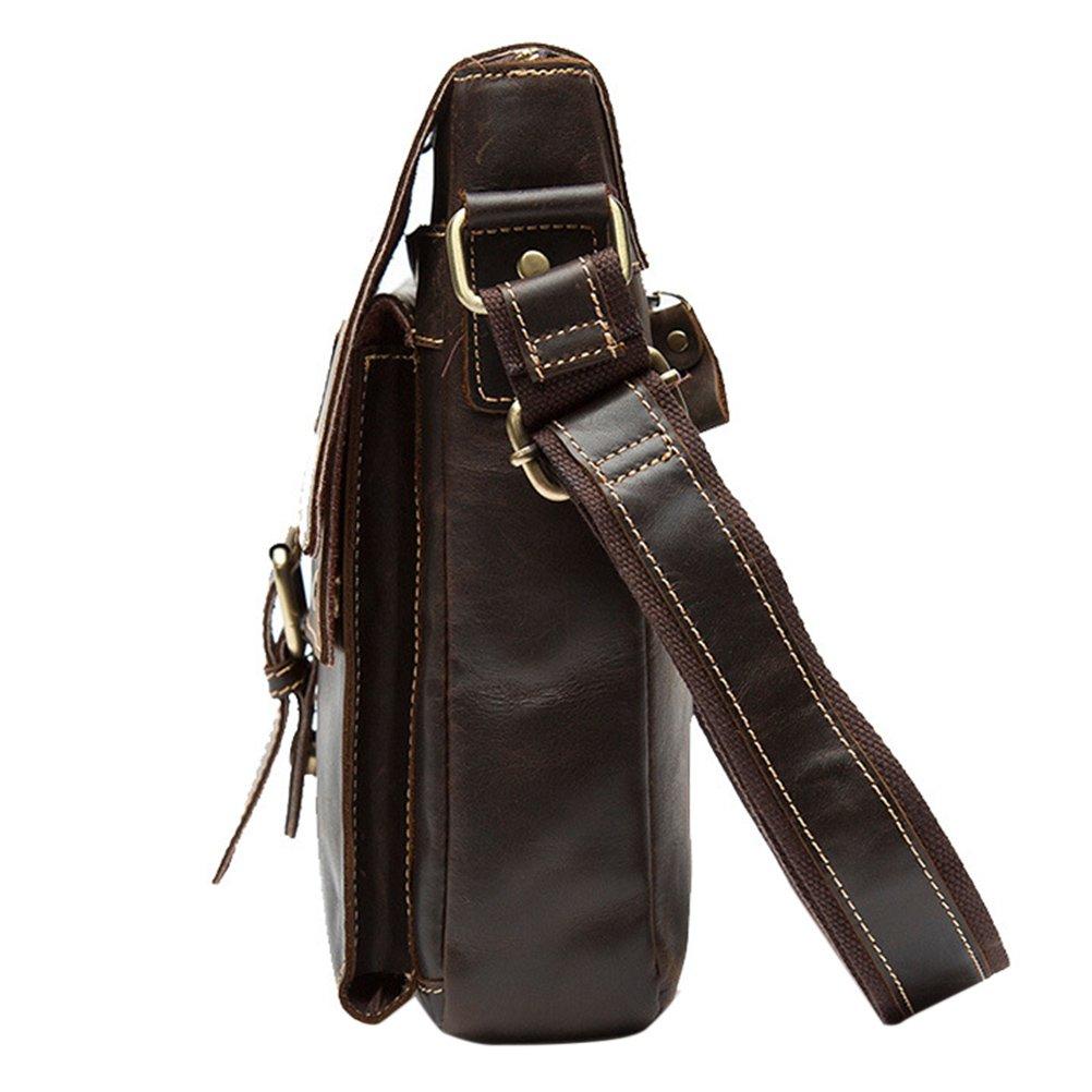 Zhhlinyuan Soft First Cowhide Leather Multi-pocket Flap-over Shoulder Bag Daypack Daypack Daypack Tagesrucksack Cross Body Bag Messenger Bag für Mens damen Mans School and Work B077QP1DLZ Herrentaschen db31d9