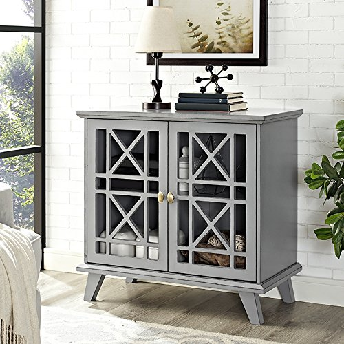 32'' Fretwork Accent Console - Gray by WE Furniture