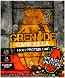 GRENADE Carb Killa Protein Bars, Low Carb Triple-Layered Deliciously Crunchy High Protein Bar - Suitable Meal Replacement For Weight Loss, Peanut Nutter, 12 Bars