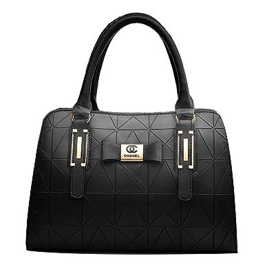 Tasche Damen Leder Einfache Große Kapazität Handtasche