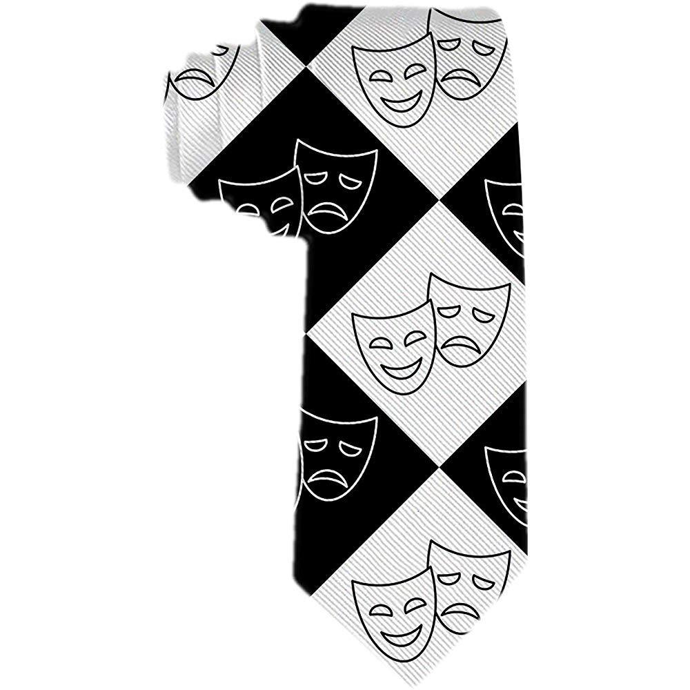 Corbata para hombre Máscaras de teatro Corbata de seda de ...