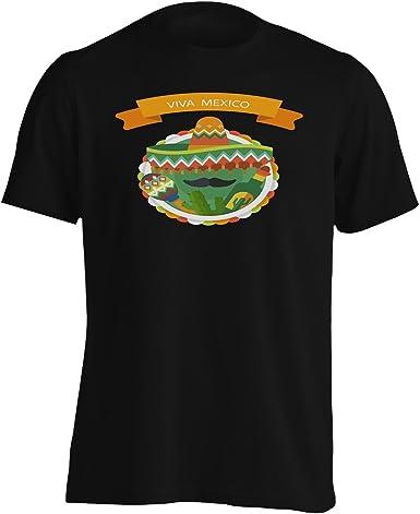 INNOGLEN Bandera Mexicana con Cactus Camiseta de los Hombres ...