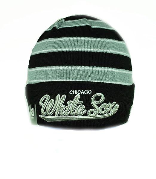 fad9b37d Amazon.com: New Era Mlb Beanie Chicago White Sox Black/grey One Size ...