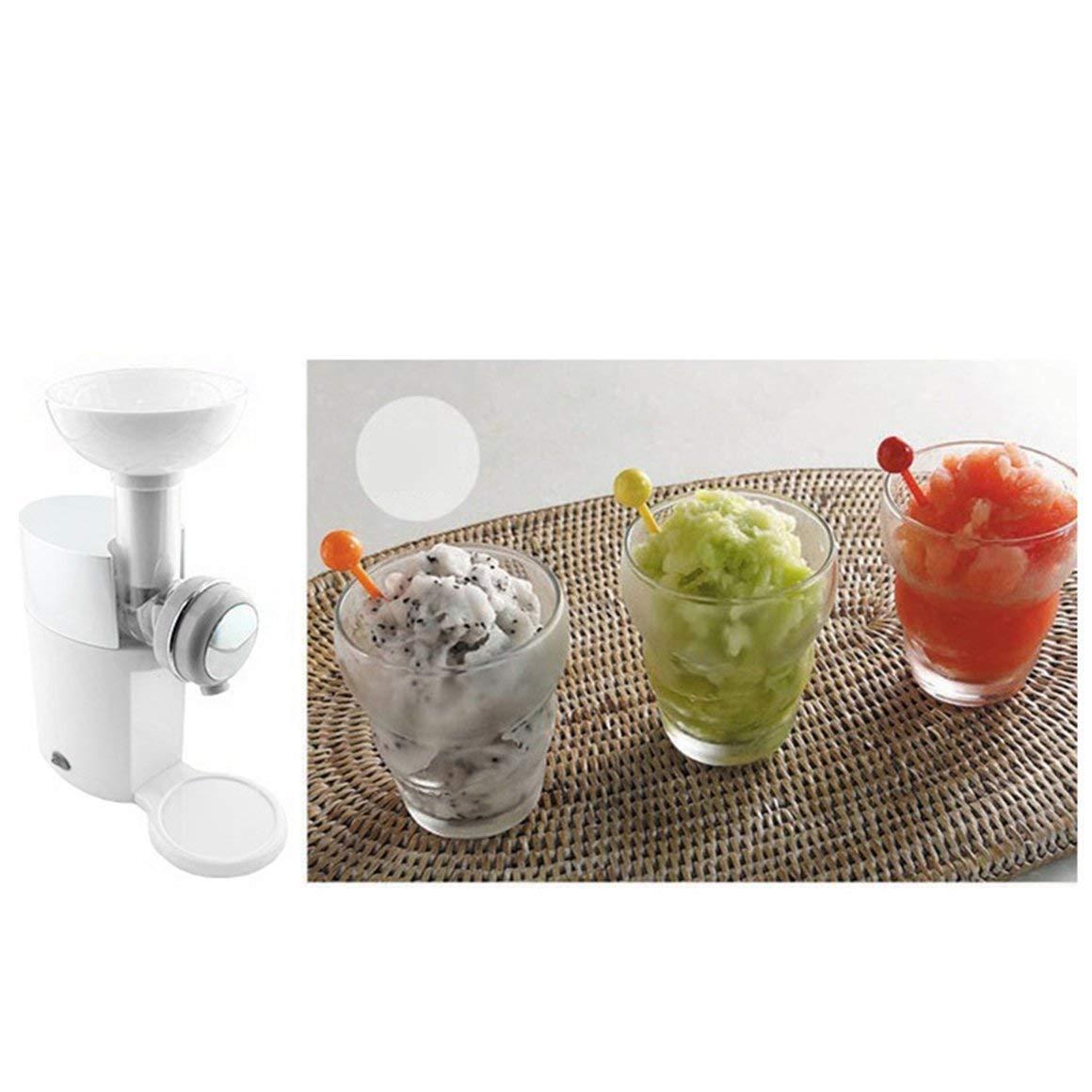 bianca Funnyrunstore Macchina per gelato artigianale FAI DA TE Macchina automatica per dessert frutta congelata portatile
