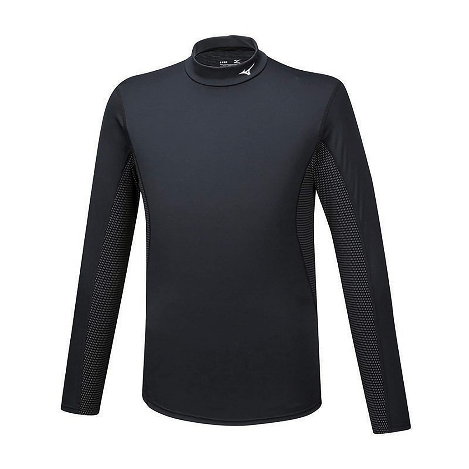 MIZUNO BREATH THERMO Lupetto BT Mid Weight High Neck Shirt Black A2GA9552