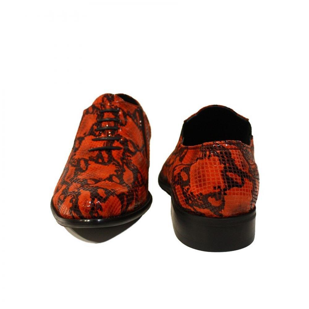 Peppeschuhe Modello Diavoletto - Handgemachtes Müßiggänger Italienisch Leder Herren Rot Mokassins Müßiggänger Handgemachtes und Slip-Ons - Ziegenleder Weiches Leder - Schlüpfen c98178