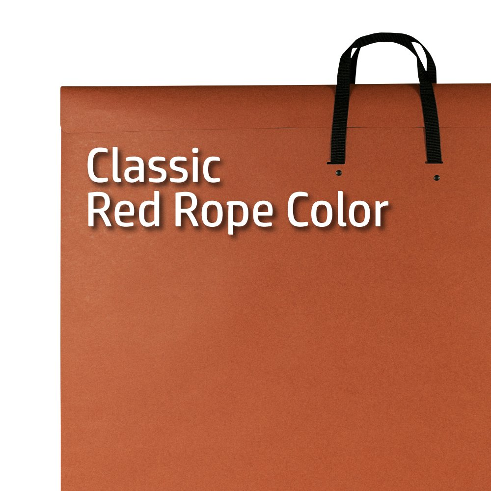 "24 x 36 Paper Artist Portfolio with Velcro Fastener,"" Poster Classic Red Rope Art Storage Star Products V246 24 x 36"
