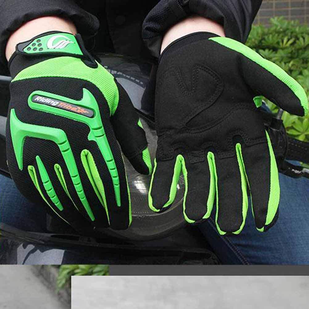 Pantalla t/áctil Bicicleta Guantes de motocicleta,Nylon para adultos Prevenci/ón de ca/ídas Antideslizante Guante para dedo completo Bicicleta de monta/ña Moto Guantes de motocross Rojo//Verde//Azul