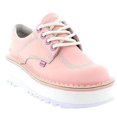 fbc2b90ed28 Kickers Womens Kick Lo Eye Stack Wedges Platform Pale Pink Heels Shoes - Light  Pink -