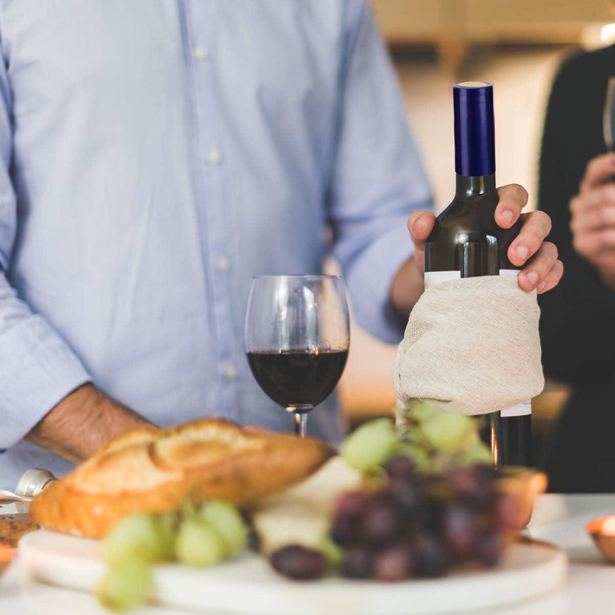 Blue Hemoton 100pcs PVC Heat Shrink Capsules Wine Bottle Capsules Wine Shrink Wrap Suitable for Wine Bottles 30mm