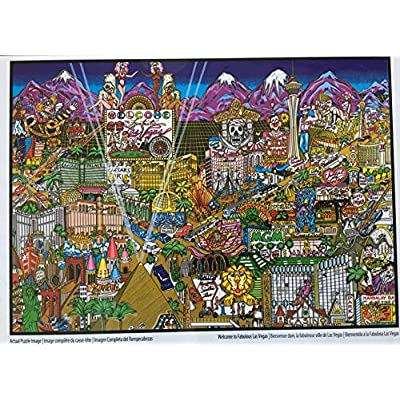 Welcome to Fabulous Las Vegas by Charles Fazzino - 300 Piece Puzzle: Toys & Games