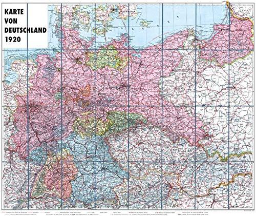 karte deutschland 1920 Karte von DEUTSCHLAND   1920   gerollt: 9783959664790: Amazon.