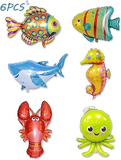 6pcs Large Sea Animal Theme Foil Helium Balloon Party Supplier