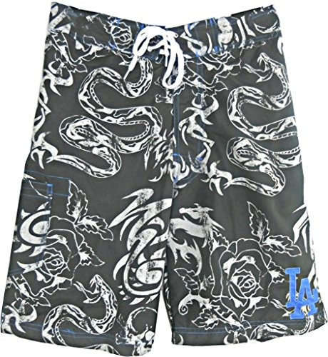 Dodgers Angeles Short Los (G-III Sports Los Angeles Dodgers Embroidered Logo MLB Bathing Suit Swim Trunks (XL))