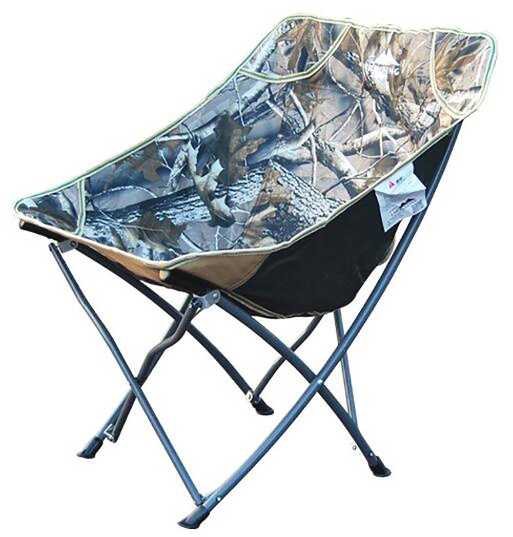 アウトドア折りたたみポータブル迷彩ビーチ椅子 B07417R1N7