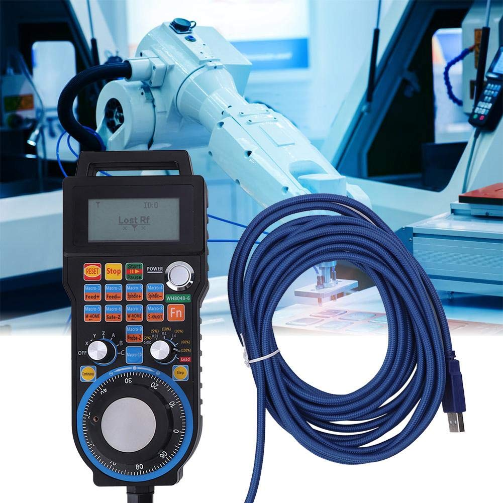 Digital CNC Engraving Machine Wired Hand Wheel 6 Axis Milling Machine Lathe Controller System for MACH3