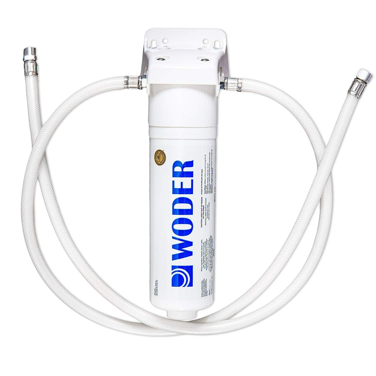 Woder WD-S-5K Under Sink Water Filter with Direct Connect Fittings – WQA Certified USA Made – Ultra High Capacity – Removes Chlorine, Lead, Chromium 6, Heavy Metals and Contaminants