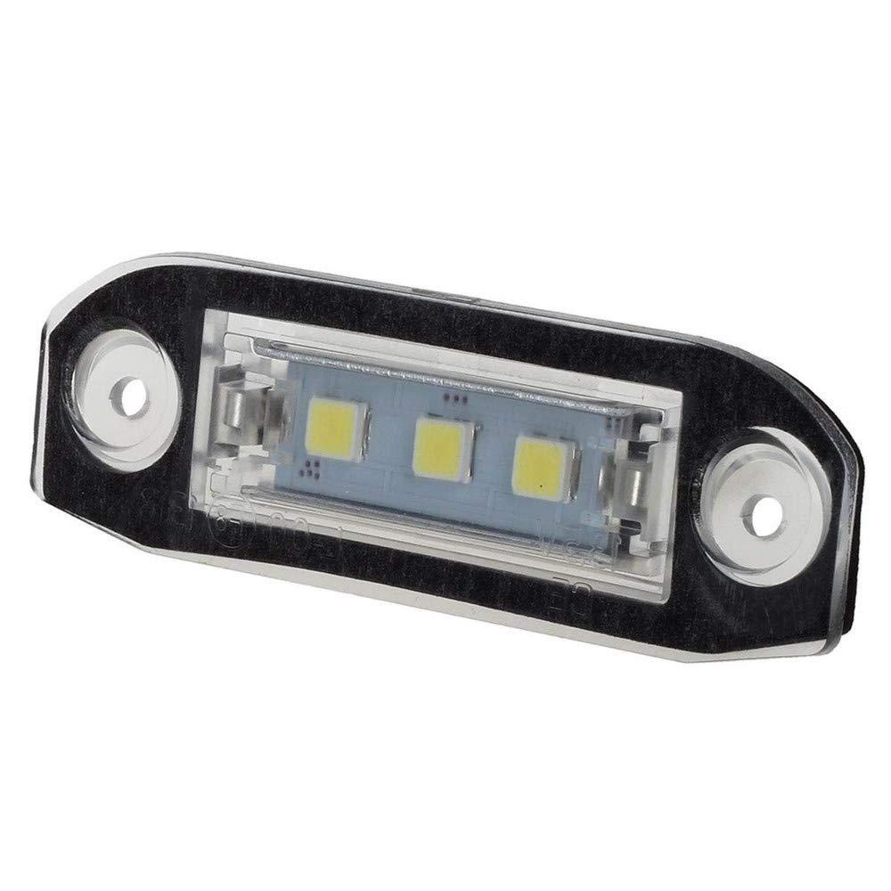Juego de 2 luces LED para matr/ícula de coche para S80 XC90 S40 V60 XC60 S60 C70 V50 XC70 V70 GZLMMY color blanco