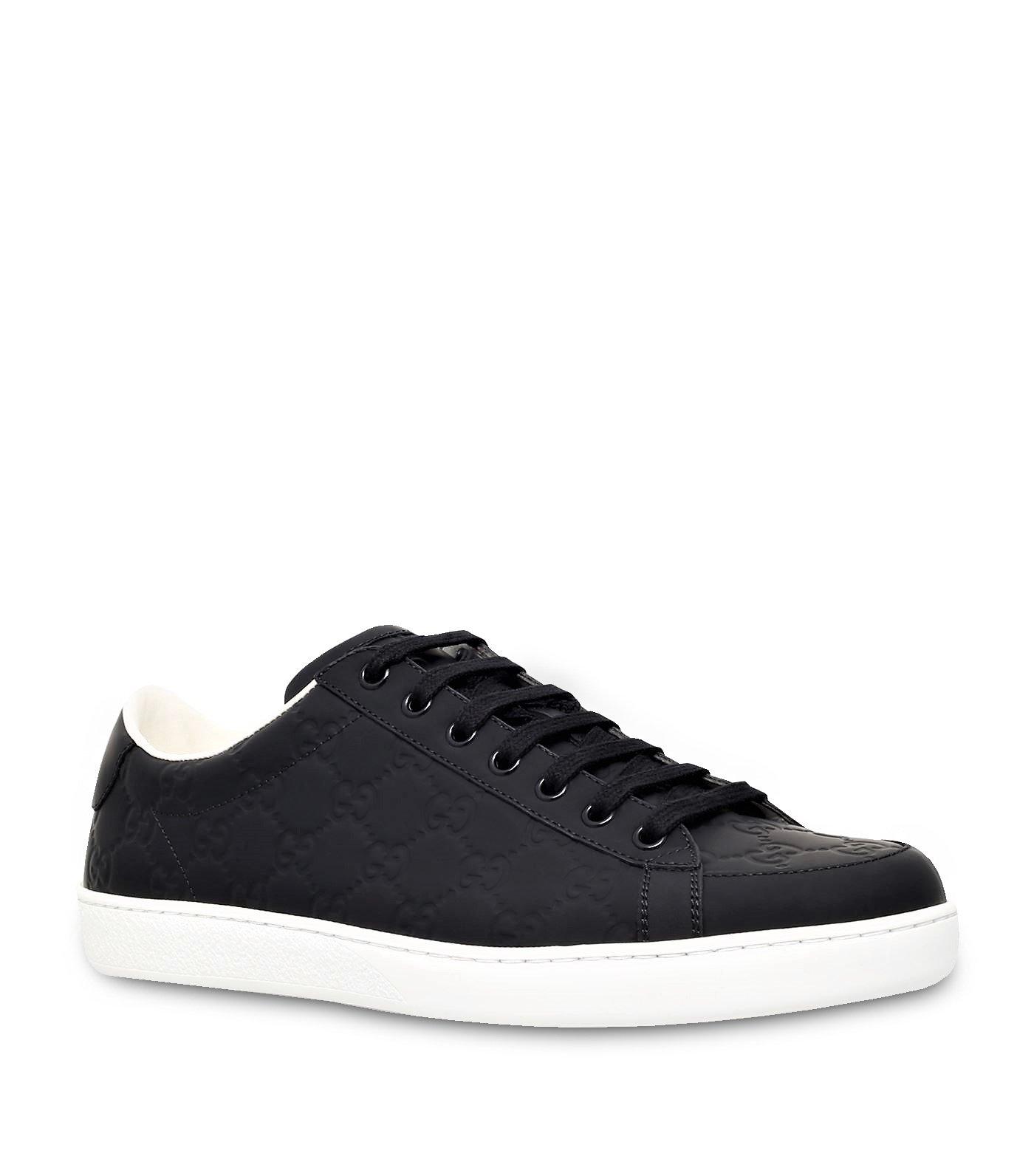 888d9f848 Galleon - Gucci Men's Brooklyn Guccissima Rubberized Leather Sneaker, Black  (Nero) 322734 (US 12 UK 11.5)