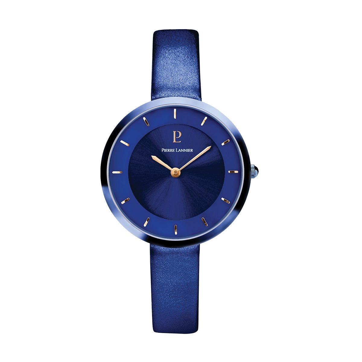 Women's Watch Pierre Lannier - 075J666 - ELEGANCE STYLE - Blue - Leather Band
