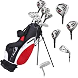 Precise ES Mens Complete Right Handed Golf Clubs Set Includes Titanium Driver