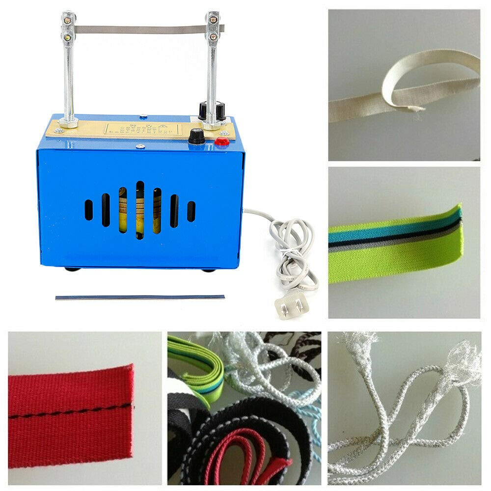 Bench Mount Electric Rope Cutter, 35W Ribbons Heating Cutting Rope Cord Machine Hot Ribbon Strap Cutting Tool Straps Ribbon Rope Cutter
