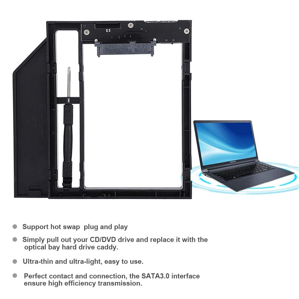 Amazon.com: ASHATA HDD Bracket, Internal Hard Disk Bracket Support Hot Swap,Laptop Internal Enclosure HDD Hard Disk Drive CD-ROM Bracket for ThinkPad/Dell ...