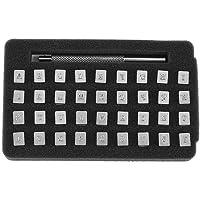 akozon 36unidades Acero–Número de piel Stamper Punch Alfabeto