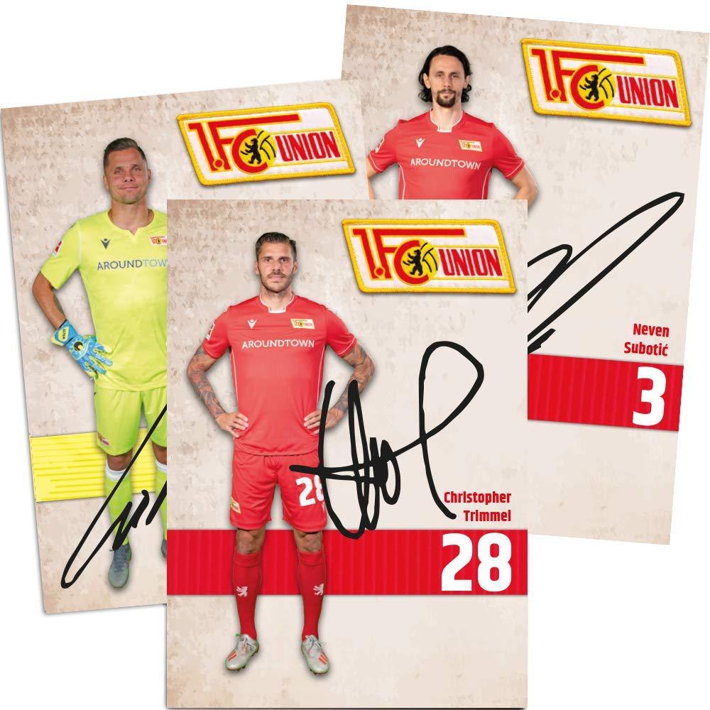 Signiert 1 FC UNION Berlin Autogrammkarten 2019//2020