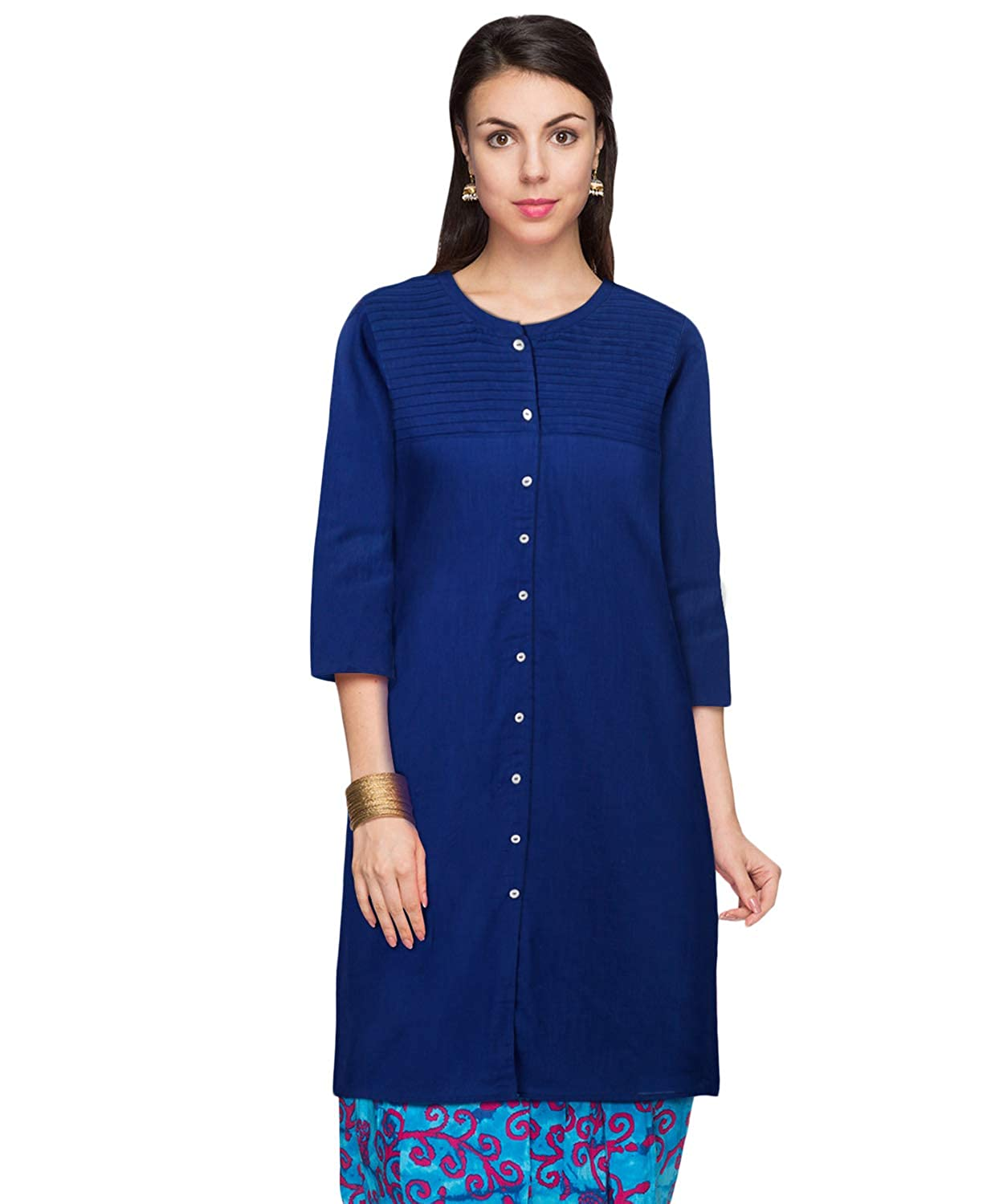 SRISHTI by FBB Women's Cotton a-line Kurta