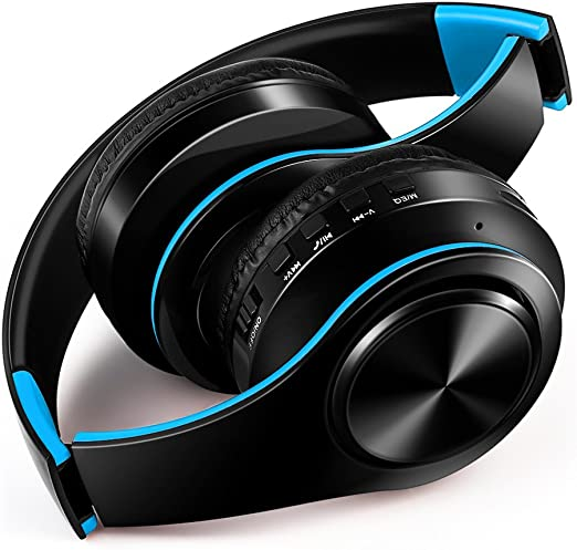 Auriculares Bluetooth, Auriculares inalámbricos Micrófono Luz led fría, Plegable portátil, Auriculares estéreo con reducción de Ruido para tabletas, PC, Laptops, Smart TV,J: Amazon.es: Hogar