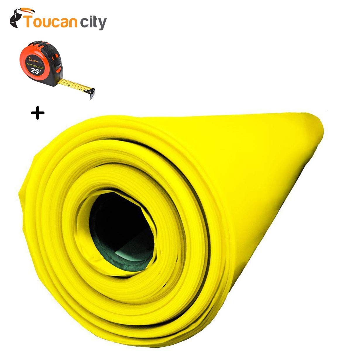 Toucan City Tape Measure and Husky 14 ft. x 210 ft. x 10 mil Yellow Guard Vapor Barrier CFYG1014-210Y by Toucan City (Image #1)