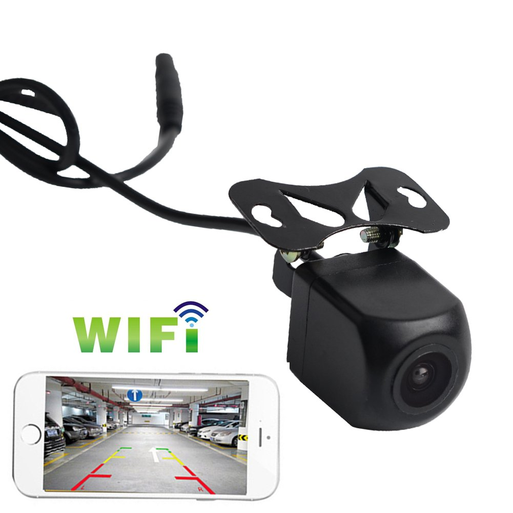 Backup Camera Monitor Wireless WiFi System iPhone/ipad/Android APP, Rearview Night Vision, IP67 Waterproof, Used in Car Bus Vehicle Truck Guide Lines, 1year Warranty