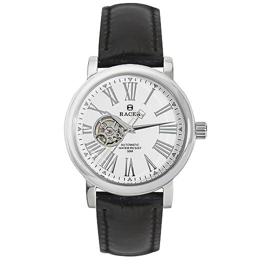 Racer Reloj Cronógrafo para Hombre de Cuarzo con Correa en Cuero A100: Amazon.es: Relojes